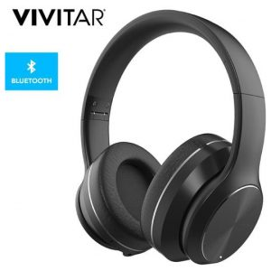 Vivitar Wireless Bluetooth Headphones w/ Active Noise-Cancelling - Black
